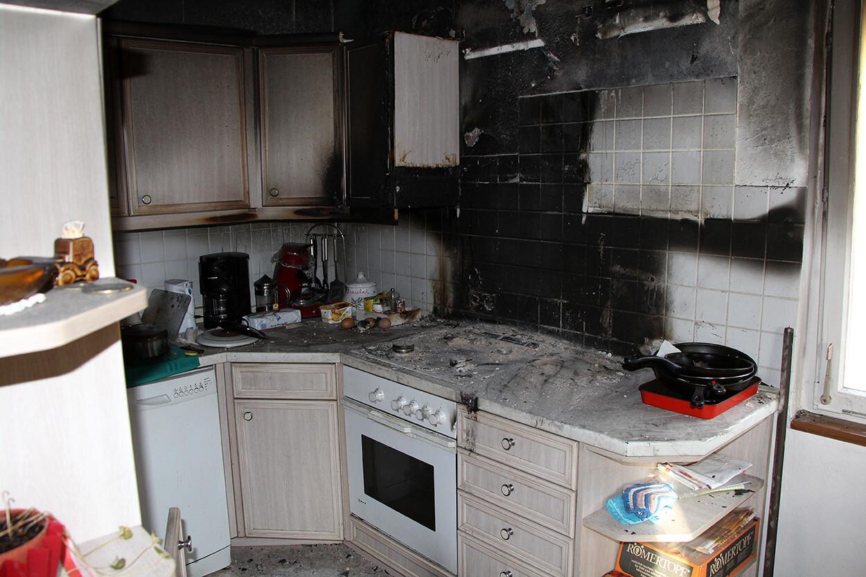 Küche Brandschaden